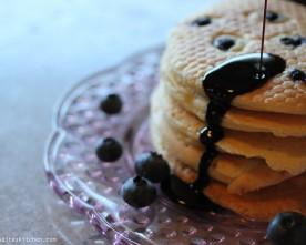 Blueberry Pancakes & Carob Syrup