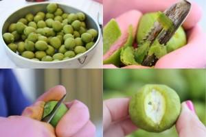 Peeling walnuts
