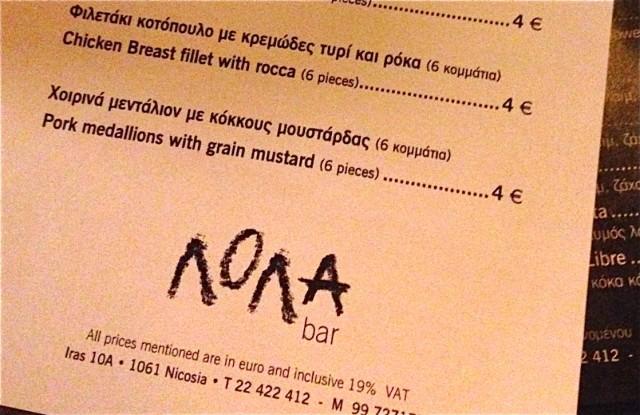 Lola Bar Nicosia