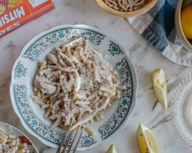 Cypriot Pasta With Chicken, Lemon And Anari