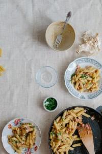 Mitsides Penne Carbonara with Lountza Afrodite's Kitchen-6693