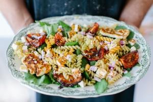 Mitsides Tricolore Pasta Salad Afrodite's Kitchen-7023