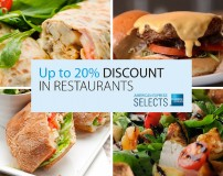 American Express restaurant discounts up to 20%, check them out now!