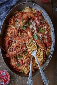 Mitsides Ouzo Spaghetti Mitsides - Prawn Ouzo Spaghetti1124