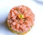 Homemade pita and salmon tartare at Yasemin