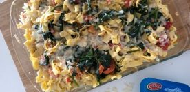 Cheesy spinach pasta bake recipe
